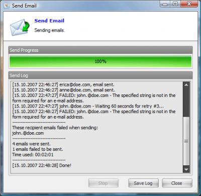 Email Sender Deluxe 2.35