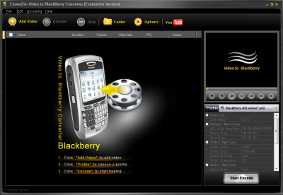 Clone2Go Video to BlackBerry Converter 2.5.0