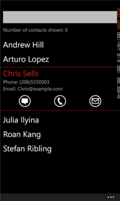 Quick Contacts 1.0.0.0