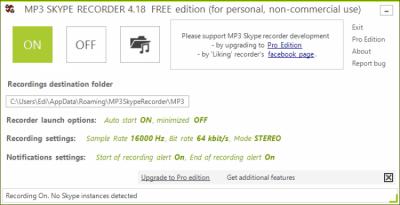 MP3 Skype Recorder 4.46