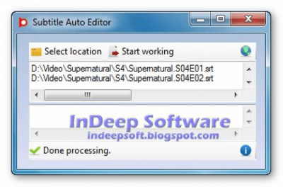 Subtitle Auto Editor 4.2.1