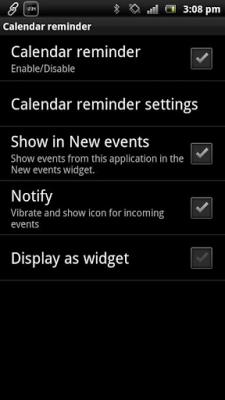 Напоминание календаря - Smart 1.00.15