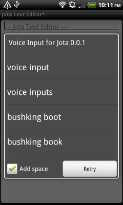 Voice Input for Jota 0.0.1