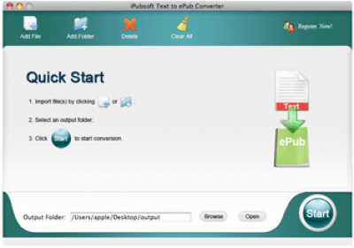 iPubsoft Text to ePub Converter for Mac 2.1.0