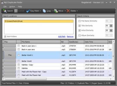 Mp3 Duplicate Finder 1.9