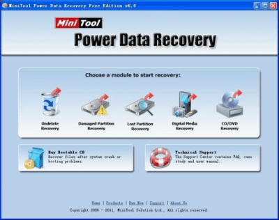 Power Data Recovery Free Edition 8.0