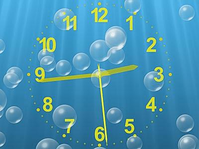 Underwater Clock Bubbles Screensaver 1.25
