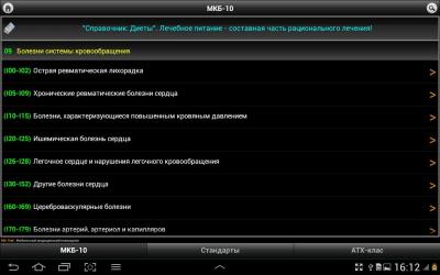 МКБ-10 / Стандарты / АТХ 1.10