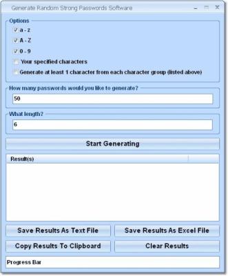 Generate Random Strong Passwords 7.0