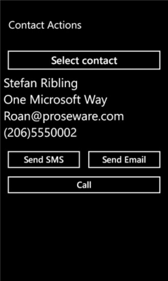 Contact Actions 1.0.0.0