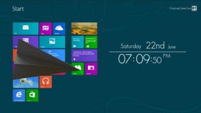 Win8 ScreenSaver Clock