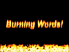 Скачать Burning Words Screensaver