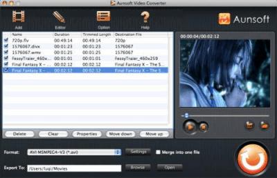 Aunsoft Video Converter for Mac 2.4.1