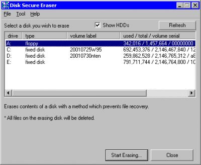 Disk Secure Eraser 1.0.4