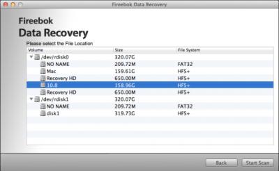 Fireebok Data Recovery for Mac 3.5.0