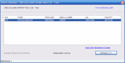 HDD Low Level Format Tool 4.40