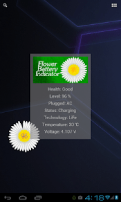 Цветочный индикатор батареи 1.22