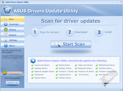 ASUS Drivers Update Utility 5.7