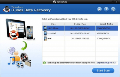 Tenorshare iTunes Data Recovery 6.3.2.0
