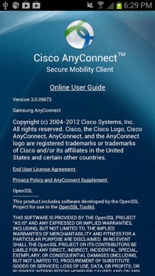 Samsung AnyConnect 3.0.09570