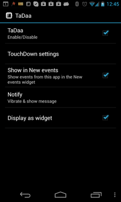TouchDown SmartWatch Notifier 1.1.01