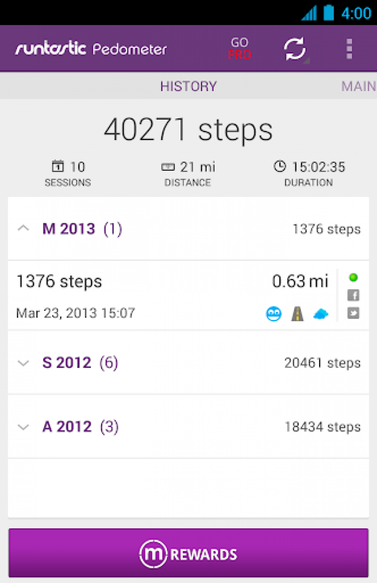 Screenshots for Pedometer PRO Step Counter powered by runtastic