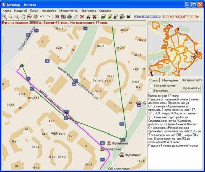 Карта Москвы MosMap 4.0