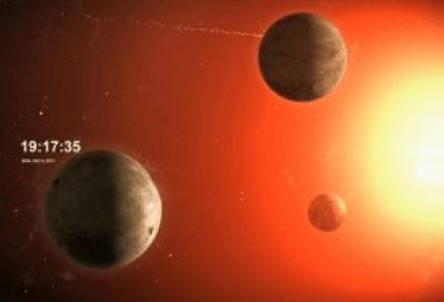 """Заставка """"Планетные Потоки"""" 1.1"""