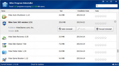 Wise Program Uninstaller Portable 2.26.121