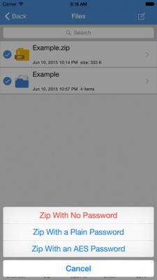 iZip Pro for iPhone – Zip Unzip Unrar 15.08