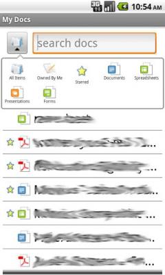 My Docs - Google Docs 0.8