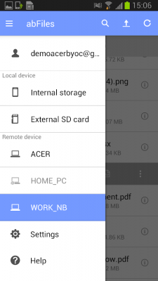 abFiles (Acer Remote Files) 2.09.2004