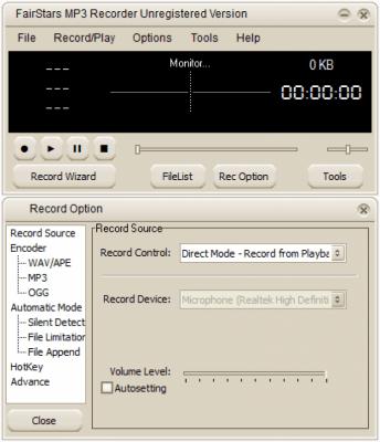 FairStars MP3 Recorder 2.50