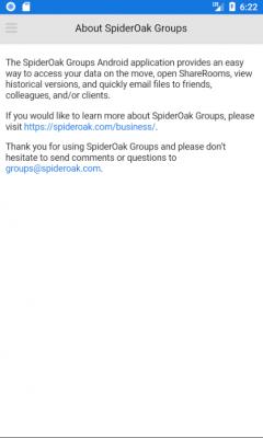 SpiderOak Groups 3.6.1
