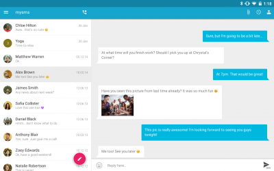 SMS Texting from Tablet & Sync 4.3.1