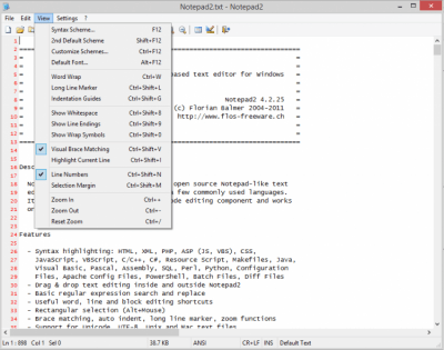 Notepad2 Portable 4.2.25
