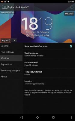 Digital Clock Widget Xperia 5.2.0.243