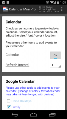 Календарь Mini 1.0.159