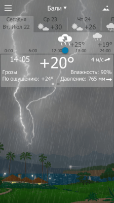 Погода YoWindow 2.4