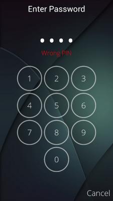Защита паролем экрана 3.3
