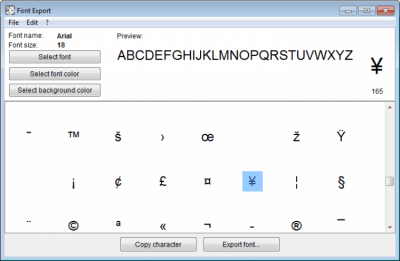 Alternate Font Export 1.670