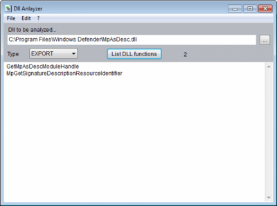 Alternate DLL Analyzer 1.560