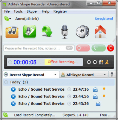 AthTek Skype Recorder 7.3.0.0