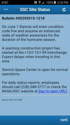 SSC Site Status 1.7.2