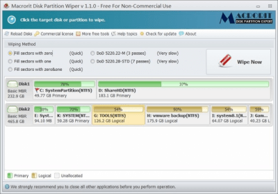 Macrorit Disk Partition Wiper 4.3.3