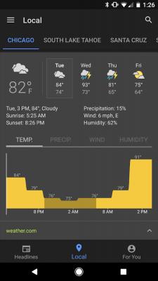 GoogleНовости и погода 3.5.3