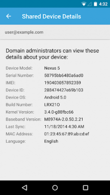 Google Apps Device Policy 10.46.00