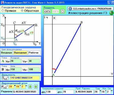 Прямая и обратная геодезическая задача 15