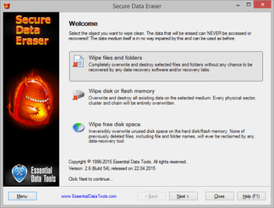 Secure Data Eraser 2.8