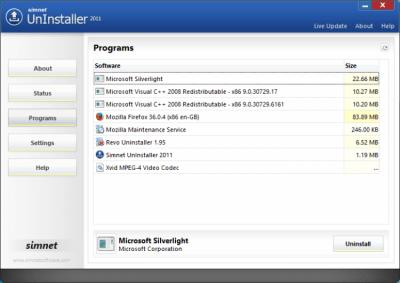 Simnet Uninstaller 3.1.2.3